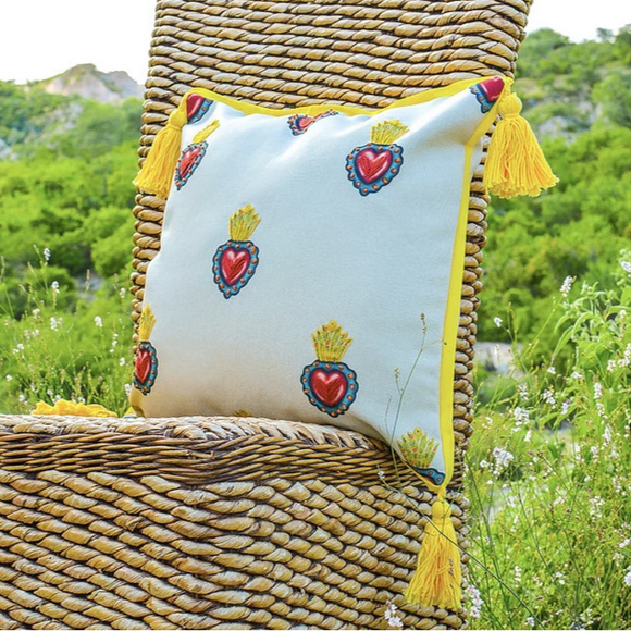 Royal Hearts Embroidered Pillow Case