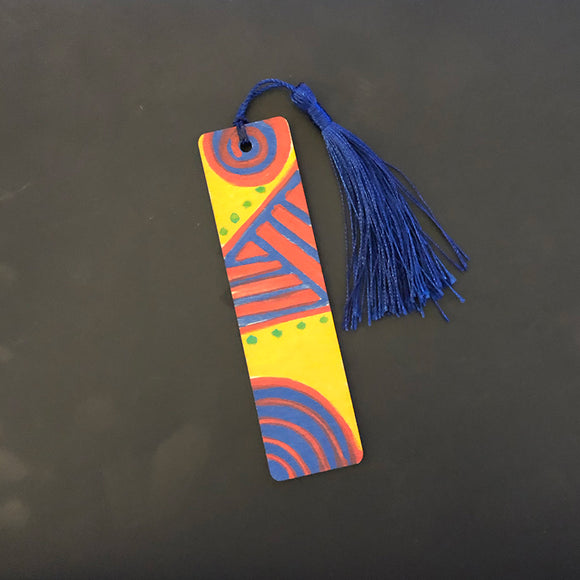 Hand Painted Wood Bookmark