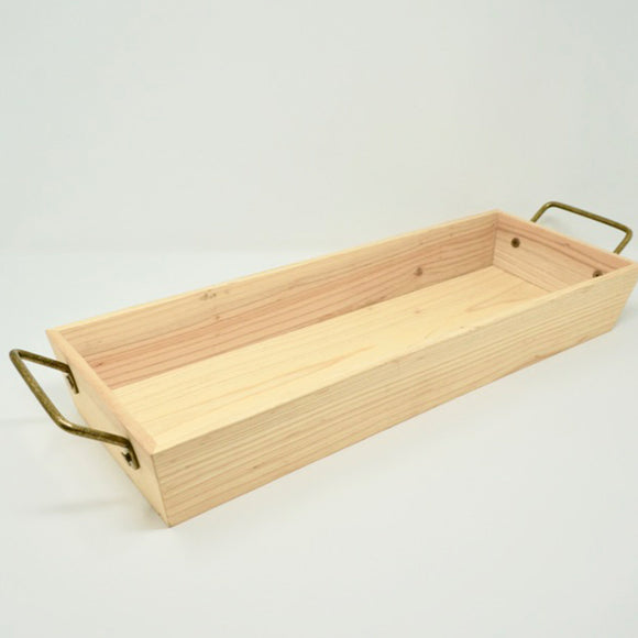 Long Rectangular Pine Tray