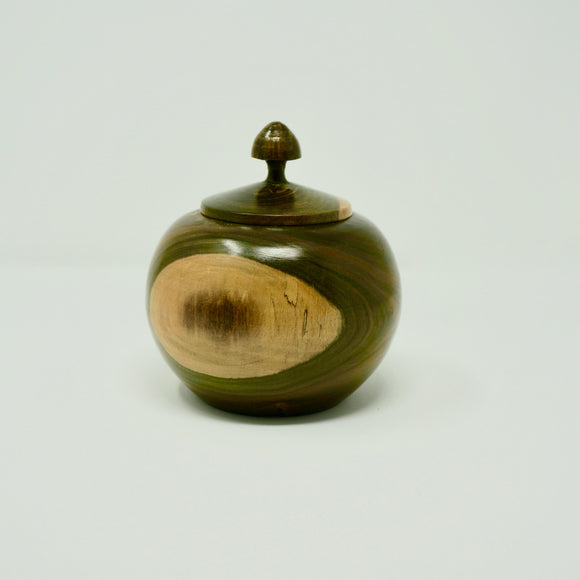 Two-Toned Wooden Jar