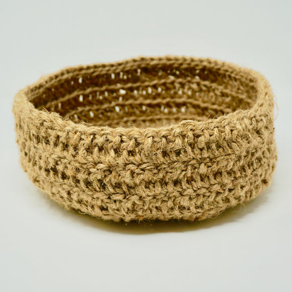 Crocheted Jute Basket