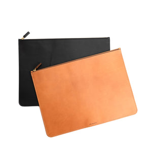 THE REGULAR tan and black leather Folio doucument case.