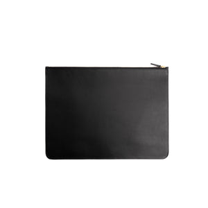 THE REGULAR black, leather folio doucument case with zip.