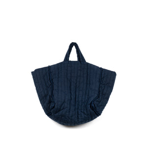 The Quilt Tote - Navy Garment Dyed Linen