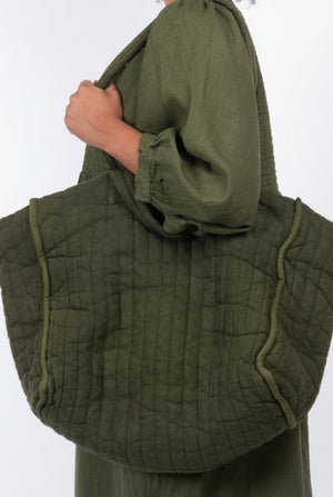 Supersized Quilty - Olive Garment Dyed Linen