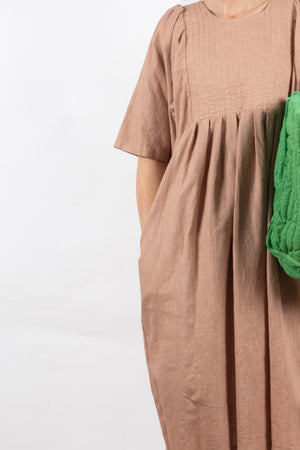 Carly Quilt Dress - Shell Garment Dyed Linen