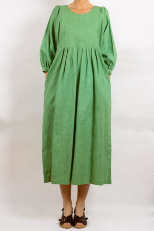 Quilt Dress - Apple Garment Dyed Linen
