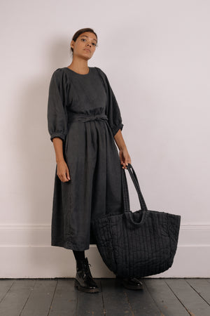 Quilt Tote - Slate Garment Dyed Linen