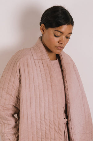 Quilt Jacket - Shell Garment Dyed Linen