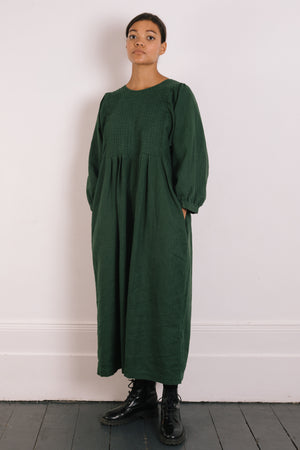 Quilt Dress - Evergreen Garment Dyed Linen