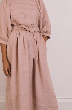 Quilt Dress - Shell Garment Dyed Linen