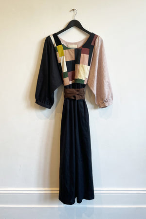 Patchwork Dress  - 'The Shell Sleeve One'