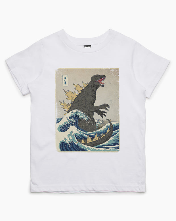 The Great Godzilla Off Kanagawa Kids T-Shirt Australia Online