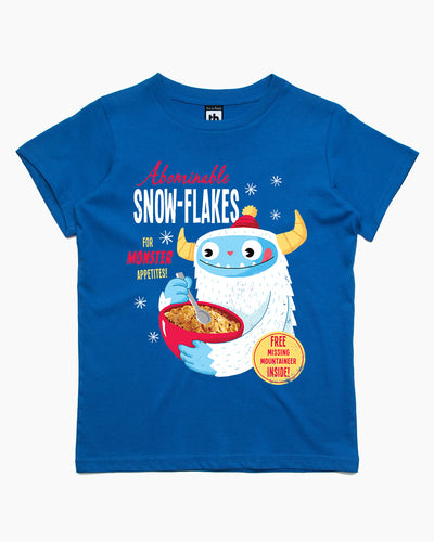 Abominable Snowflakes Kids T-Shirt Australia Online