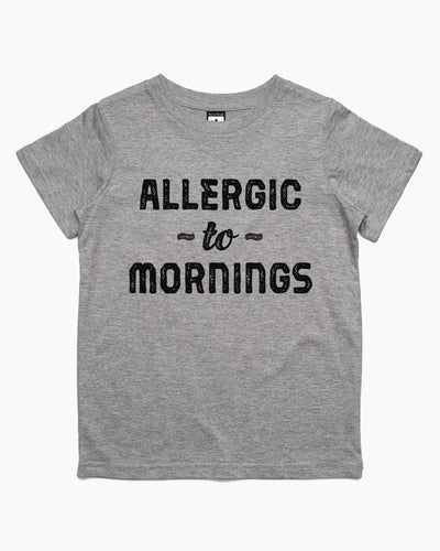 Allergic to Mornings Kids T-Shirt Australia Online
