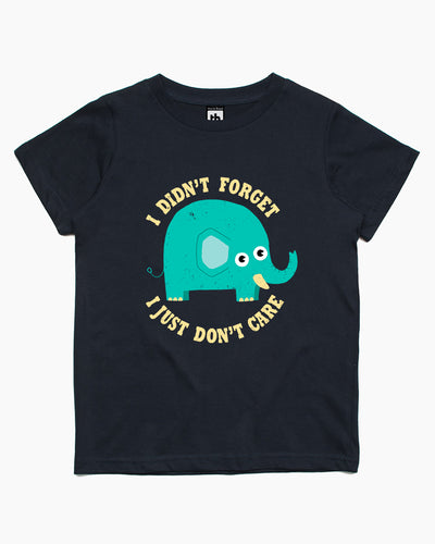 An Elephant Never Cares Kids T-Shirt Australia Online