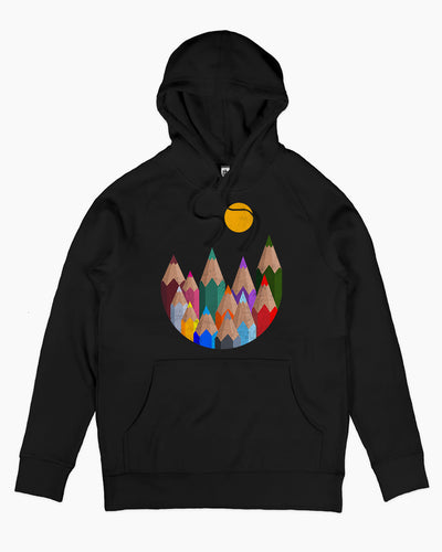 12 Colour Mountains Hoodie Australia Online
