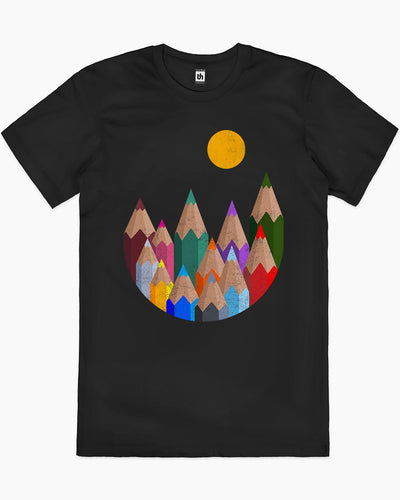 12 Colour Mountains T-Shirt Australia Online