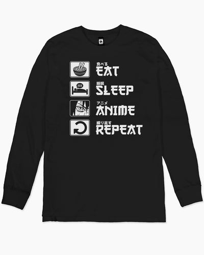 Eat Sleep Anime Repeat Long Sleeve Australia Online