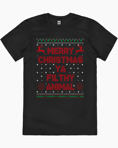 Merry Christmas Ya Filthy Animals T-Shirt Australia Online