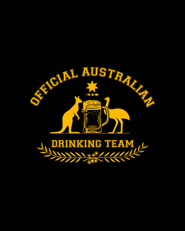 Official Australian Drinking Team T-Shirt Australia Online