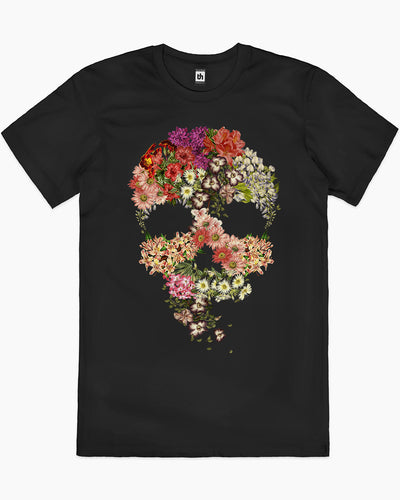 Skull Floral Decay T-Shirt Australia Online