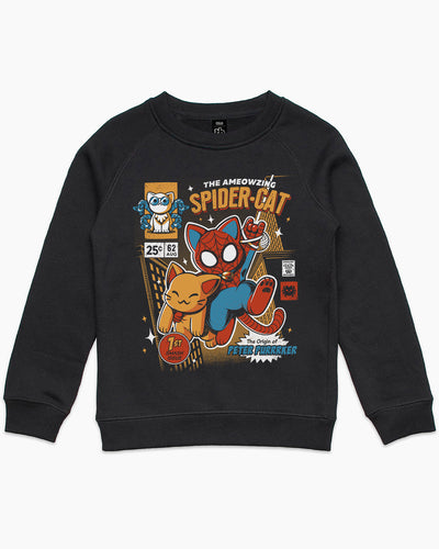 Spider Cat Kids Sweater Australia Online