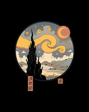 Starry Ukiyo-e Night T-Shirt Australia Online