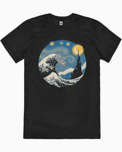 The Great Starry Wave T-Shirt Australia Online