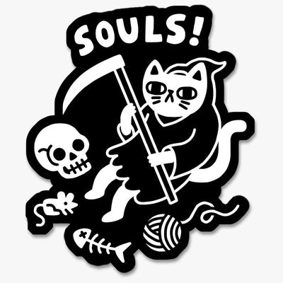Death Cat Sticker Australia Online