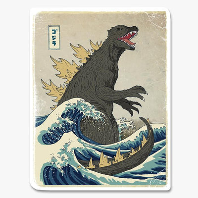 Great Godzilla Off Kanagawa Sticker Australia Online