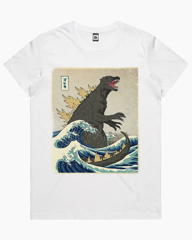 The Great Godzilla Off Kanagawa T-Shirt Australia Online