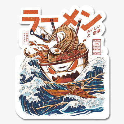 Great Ramen Off Kanagawa Sticker Australia Online