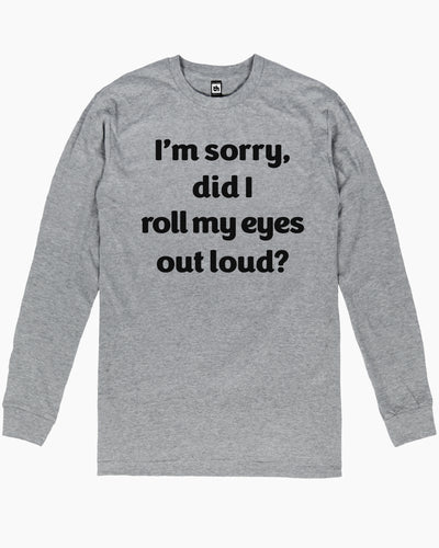 Roll My Eyes Long Sleeve Australia Online
