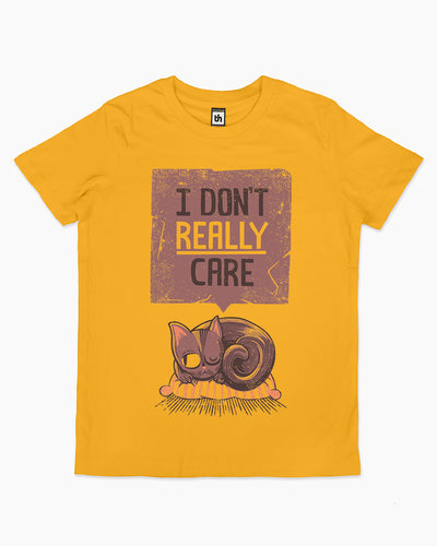 I Don't Care Cat Kids T-Shirt Australia Online