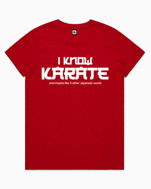 I Know Karate T-Shirt Australia Online