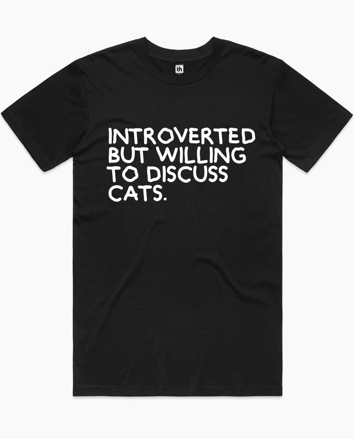 Introverted But Willing To Discuss Cats T-Shirt Australia Online