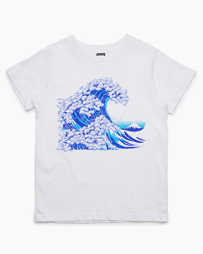 Kanagawa Cat Wave Kids T-Shirt Australia Online
