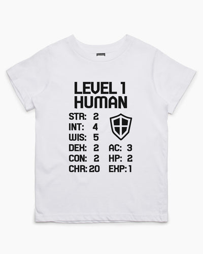 Level 1 Human Kids T-Shirt Australia Online