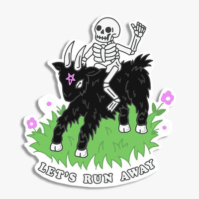 Let's Run Away Sticker Australia Online