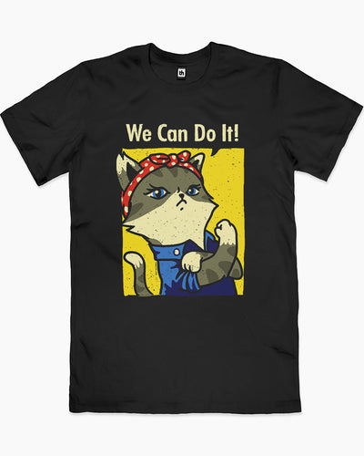 We Can Do It! Cat Edition T-Shirt Australia Online