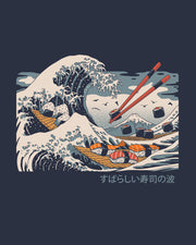 The Great Sushi Wave T-Shirt Australia Online