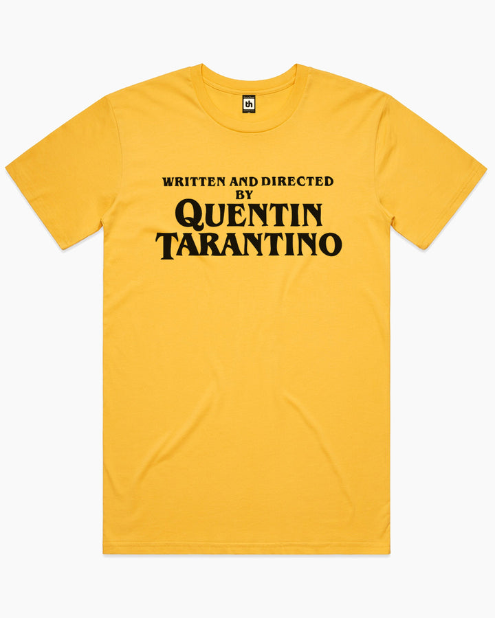 Written and Directed by Quentin Tarantino T-Shirt Australia Online