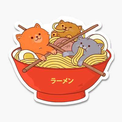 Ramen and Cats Sticker Australia Online