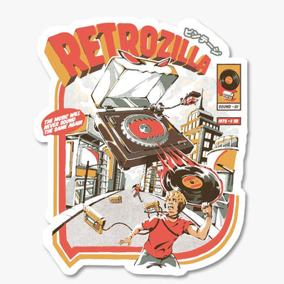 Retro Soundzilla Sticker Australia Online