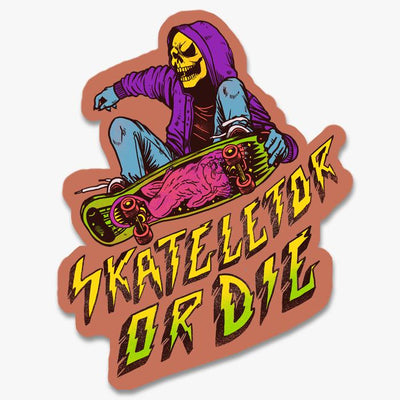 Skateletor Or Die Sticker Australia Online