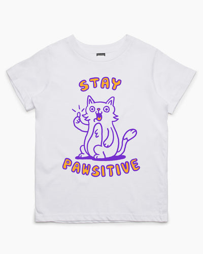 Stay Pawsitive Kids T-Shirt Australia Online