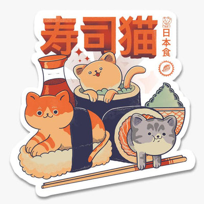 Sushi Cats Sticker Australia Online