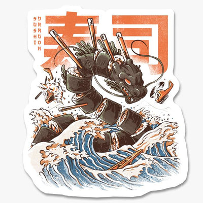 Sushi Dragon Sticker Australia Online