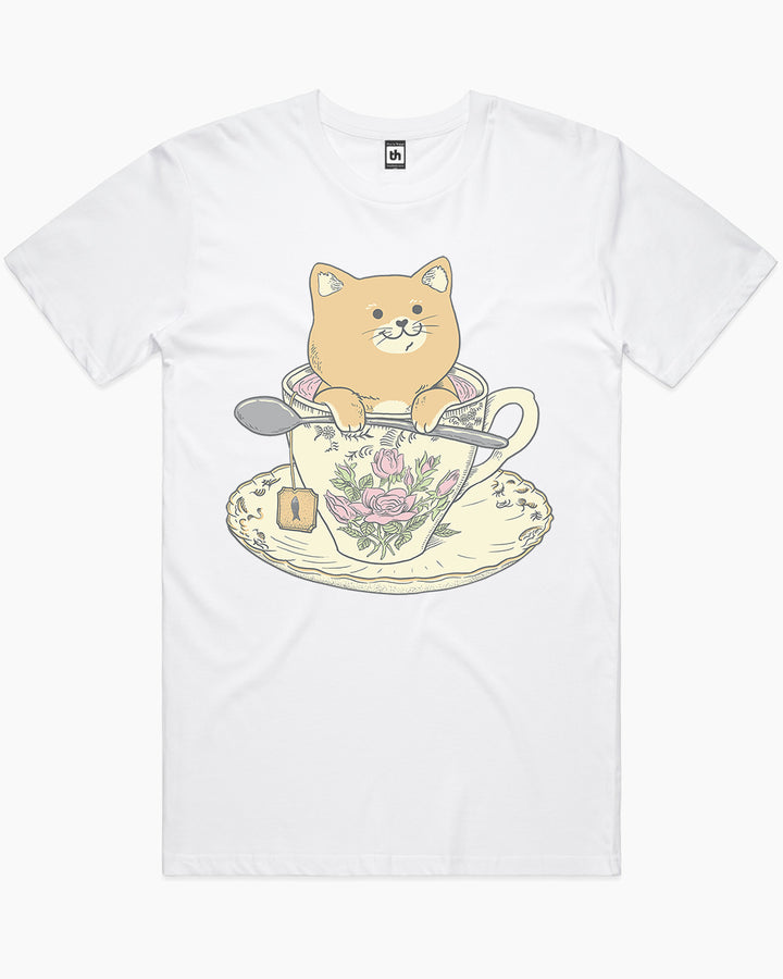Tea Cat Time T-Shirt Australia Online